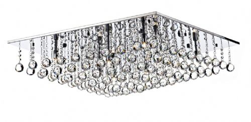 Abacus 8-light Polished Chrome Flush Ceiling Light ABA4750